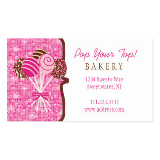 Cake Pops Bakery : Business Card