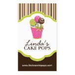 Cake Pops Bakery Cards Pack Of Standard Business Cards