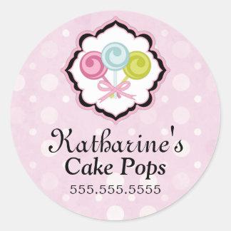 Cake Pops Bakery Stickers