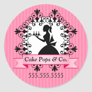Cake Pops Bakery Stickers