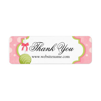 Cake Pops Bakery Thank You Return Address Label