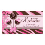 Cake Pops Business Card Bakery Pink Brown Zebra