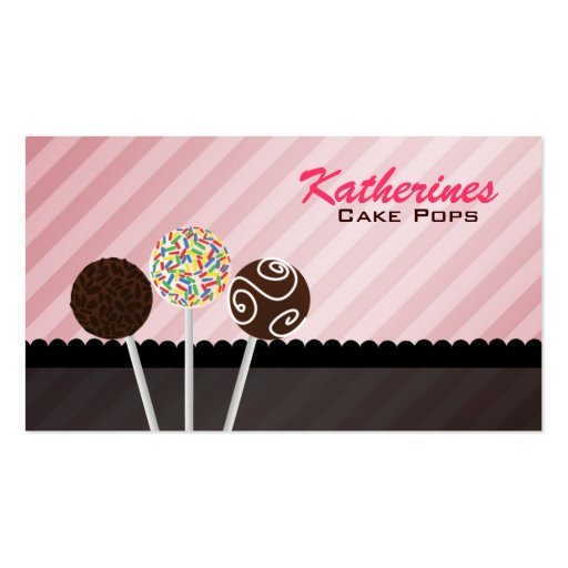 Cake pops business cards zazzle for Zazzle business card