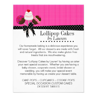 Cake Pops Hot Pink with Photo Frames 11.5 Cm X 14 Cm Flyer