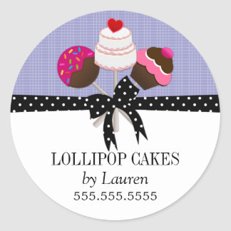 Cake Pops Lavender Stickers