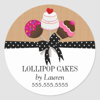 Cake Pops Taupe Stickers