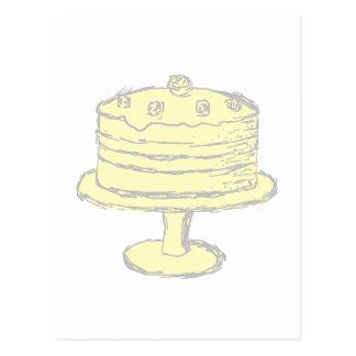 Cake. Postcard