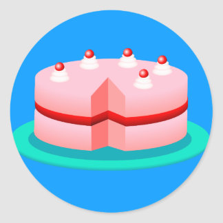 Cake Round Sticker