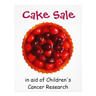 Cake Sale for Charity Flyer