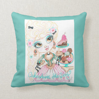 Cake Saves The Day Art Pillow