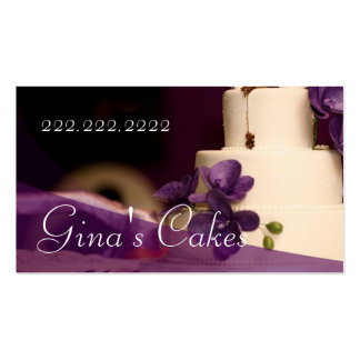 Cake Shop Cupcakes Bakery Catering Pack Of Standard Business Cards