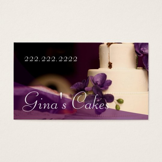 Cake Shop Cupcakes Bakery Catering Business Card