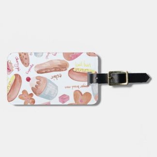 Cake shop luggage tag