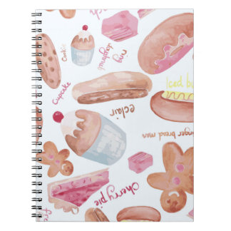 Cake shop spiral note book