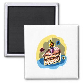 Cake Slice Square Magnet