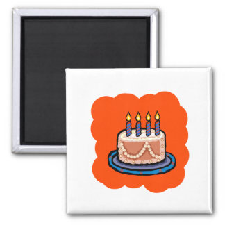 Cake Square Magnet