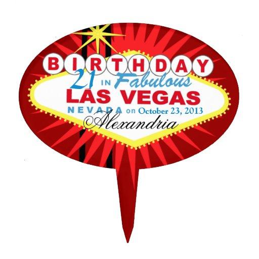 CAKE TOPPER Las Vegas 21st Birthday
