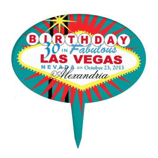 CAKE TOPPER Las Vegas 30th Birthday