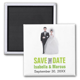 Cake Topper Save the Date Magnet