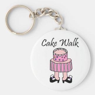 Cake Walk Basic Round Button Key Ring