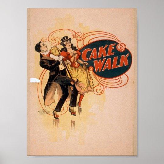 Cake Walk Retro Theatre Poster