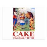 CAKE WILL MAKE IT BETTER POSTCARD