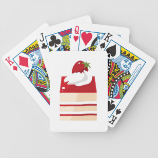 Cake with strawberry poker cards