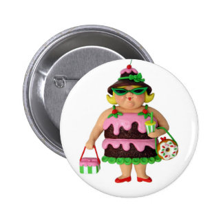 Cake Woman 6 Cm Round Badge
