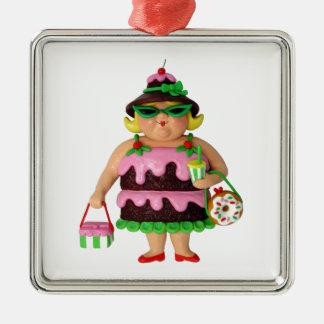 Cake Woman Christmas Ornament
