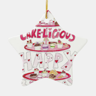 Cakelicious Happy Birthday Ceramic Star Decoration