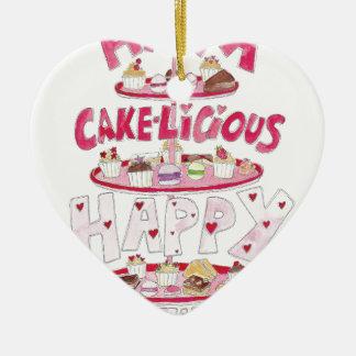 Cakelicious Happy Birthday Christmas Ornament