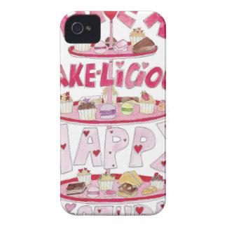 Cakelicious Happy Birthday iPhone 4 Case-Mate Cases