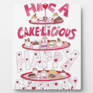 Cakelicious Happy Birthday Plaque