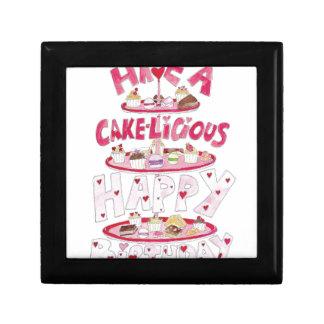 Cakelicious Happy Birthday Small Square Gift Box