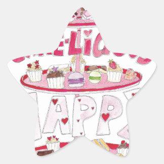 Cakelicious Happy Birthday Star Sticker