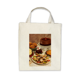 Cakes and sweets canvas bags