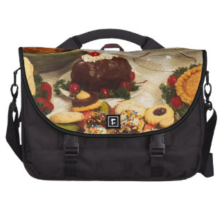 Cakes and sweets laptop commuter bag