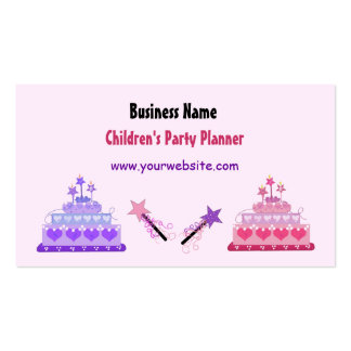 Cakes and Wands Children's Party Planner Pack Of Standard Business Cards