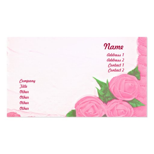 Cakes - Business Double-Sided Standard Business Cards (Pack Of 100)