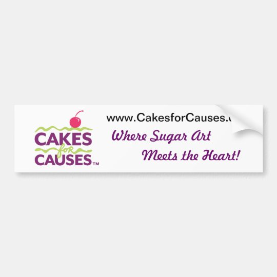 Cakes for Causes Bumper Sticker