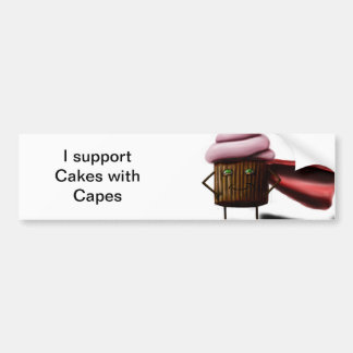 Cakes With Capes Bumper Sticker