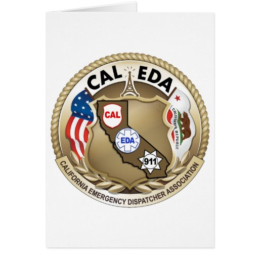 CAL-EDA Logo Notecard (side opening) Cards