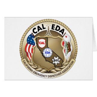 CAL-EDA Notecards (bottom open) Greeting Card