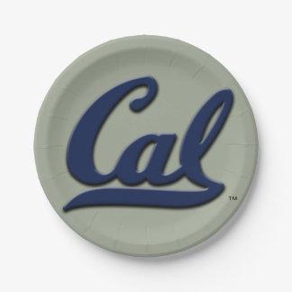 Cal Logo 7 Inch Paper Plate