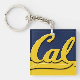 Cal Logo Single-Sided Square Acrylic Key Ring