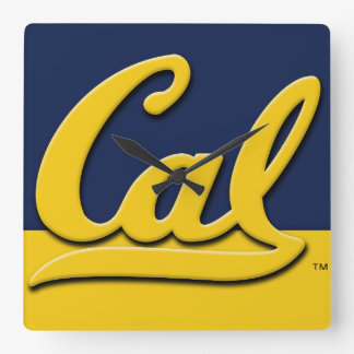 Cal Logo Square Wall Clock