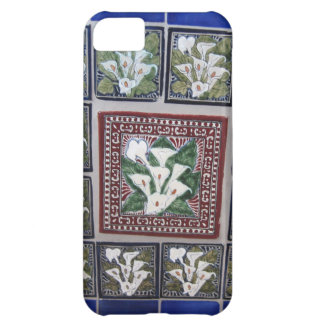 Cala Lily Mexican tiles Case For iPhone 5C