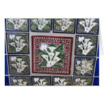 Cala Lily Mexican tiles Greeting Card