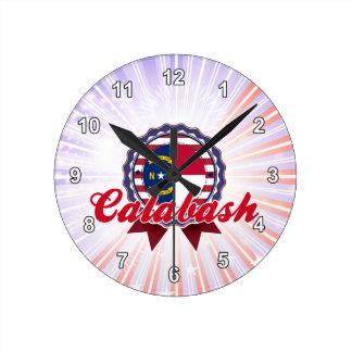 Calabash, NC Round Wall Clock