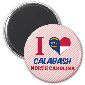 Calabash, North Carolina 6 Cm Round Magnet